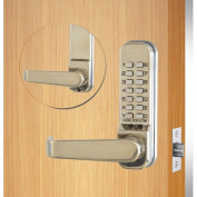 Codelocks Mechanical Tubular Lockset with 5.1cm - 1.9cm Latch, CL410-SS, Stainless Steel