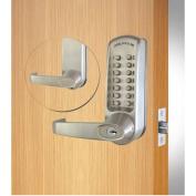 Codelocks ANSI Grade 2 Mechanical Lockset, CL610-BS, EZ Code Change, Brushed Steel