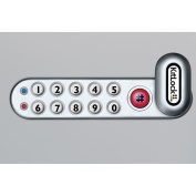 """Codelocks 4-In-1 Electronic Cam Lock, KL1006LH-SG, Up to 1"""" Thick Matl, LH Horz, Silver Grey"""