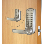 Codelocks ANSI Grade 2 Mechanical Lockset, CL610BB-BS, EZ Code Change, Dual Key Pads, Silver Grey