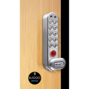 """Codelocks 4-In-1 Electronic Cam Lock, KL1006KIT-SG, Up To 1"""" Thick Matl, Vertical, Silver Grey"""