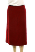 Tahari By ASL NEW Red Womens Size 16W Plus Straight Textured Skirt