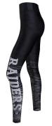 "Oakland Raiders Women's NFL ""Yard Lines"" Leggings Yoga Pants"