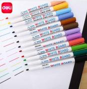 Deli Erasable Whiteboard Marker Pens 12 pcs Assorted Colors Value Set