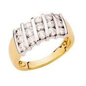 1 Carat of Diamonds 18ct Gold Diamond Channel Set Ring