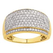 1 Carat of Diamonds 9ct Gold Diamond Pave Ring