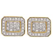 1/4 Carat of Diamonds 9ct Gold Diamond Rectangle Earrings