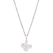 KIDZ Sterling Silver First Diamond Bee Pendant
