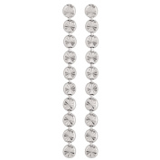 Giovani Sterling Silver Circle Row Drop Earrings