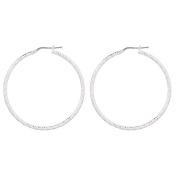 Sterling Silver Diamond Cut Earrings