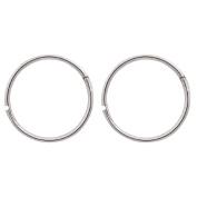 Sterling Silver Faceted Sleepers Earrings 16mm