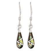 Sterling Silver Paua Drop Earrings