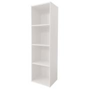 Necessities Brand Mini Bookcase 4 Tier White