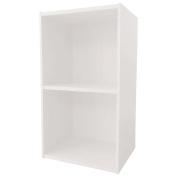 Necessities Brand Mini Bookcase 2 Tier White