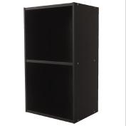 Necessities Brand Mini Bookcase 2 Tier Black