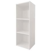 Necessities Brand Mini Bookcase 3 Tier White