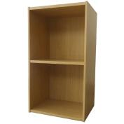 Necessities Brand Mini Bookcase 2 Tier Beech