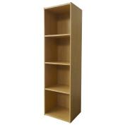 Necessities Brand Mini Bookcase 4 Tier Beech