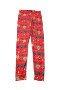 Planet Gold Juniors Red Printed Holiday Leggings M
