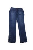 Earl Jeans Medium Blue Lace Up Hem Skinny Jeans 0