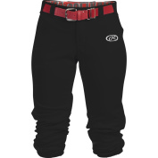 Rawlings Launch Youth Low Rise Belted Fastpitch Pant, Black, Size YL