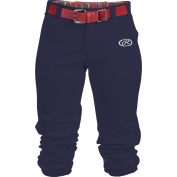 Rawlings Launch Youth Low Rise Belted Fastpitch Pant, Navy, Size YM