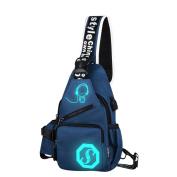 Handbag, Hunzed Unisex Light Preppy Teenagers Noctilucent Shoulder Bag Cartoon Backpack Women Chest Crossbody Crossbody Bag