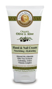 Hand & Nail Cream Tube with Organic Olive & Aloe Vera / 100ml / Hydrating / Nourishes & Protects the Skin / Revitalised Your Dry & Damaged Hands / For all skin types / For Men and Women.