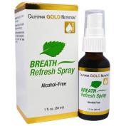 California Gold Nutrition, CGN, Breath Refresh Spray, Natural Peppermint, Alcohol-Free, 1 fl oz