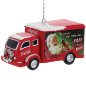 Coca Cola Delivery Truck Christmas Ornament w/ Handpainted & Sculpted Resin