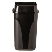 Necessities Brand Flip Lid Rubbish Bin 29L Black