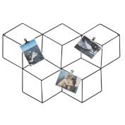 Living & Co Wall Art Black Geo 3D with Clips 66cm x 3.5cm x 45cm