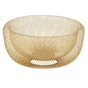 Living & Co Mesh Bowl Gold Wire