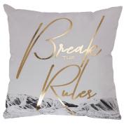 Living & Co Cushion Canvas Break Rules 43cm x 43cm