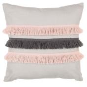 Living & Co Cushion Fringe Light Grey With Contract Fringe