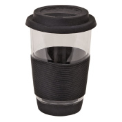 Living & Co Glass Double Wall Travel Mug Black