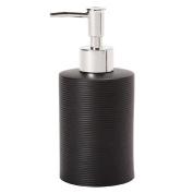 Living & Co Ribbed Lotion Dispenser Black