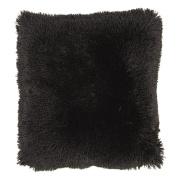 Living & Co Cushion Shaggy Black 43cm x 43cm