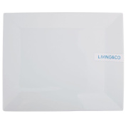 Living & Co Square Platter White 25cm