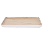 Living & Co Bamboo Platter Square White 20cm