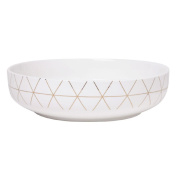 Living & Co Lustre Serve Bowl Gold Grid