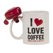 I Love Coffee Mug with Bell
