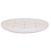 Living & Co Lustre Platter Gold Grid 30cm