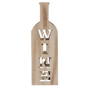 Living & Co Limited Edition Wine Holder MDF with Wooden Handle