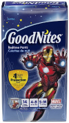 GoodNites Marvel Limited Edition Boy's Bedtime Underwear, Size Small/Medium 14 ea