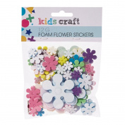 Kids' Art & Craft Glitter Foam Stickers Flower 12g