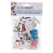 Kids' Art & Craft Glitter Foam Stickers Letter 15g
