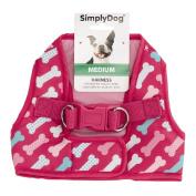 Simply Dog Pink Bone Print Vest Harness Medium