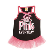 Simply Dog I Can't Wear Pink Everyday Tutu Dress Black Large