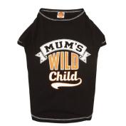 Simply Dog Mum's Wild Child Tee Black Large